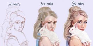 Floortje ukazuje koľko času potrebuje na nakreslenie svojich ilustrácií