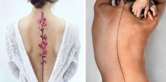 Tetovania na chrbtici | 20 nápadov na tetovania kopírujúcich líniu chrbtice