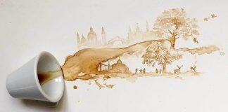 Obrazy maľované kávou a čajom | Umenie od Giulia Bernardelli