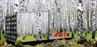 Ekologický sklenený dom zapadá do okolitej prírody ako chameleón