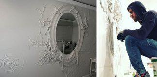 Steny zdobené basreliéfmi | Umelec mení steny interiérov na umenie