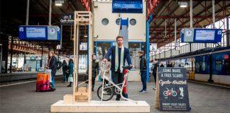 Cyclo Knitter | Bicykel, ktorý upletie šál za 5 minút počas čakania na vlak