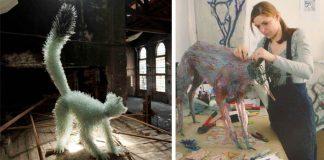 Sochy zvierat zo sklenených črepín v životnej veľkosti | Marta Klonowska
