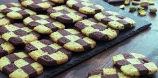 Šachovnicové sušienky | Recept na pistáciovo-čokoládové maslové sušienky