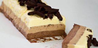 Semifreddo z troch druhov čokolády | Mrazený talianský dezert na leto
