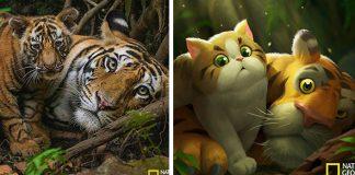 JN Crazy prekresľuje fotografie od National Geographic na rozprávkové ilustrácie