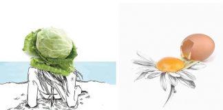 Diego Cusano používa každodenné predmety ako súčasť svojich ilustrácií
