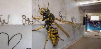 Nadrozmerné maľby hmyzu na opustených stenách miest | Odeith