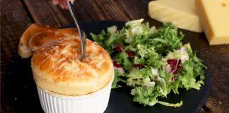 Syrové suflé | Recept na famózne suflé s tromi druhmi syra