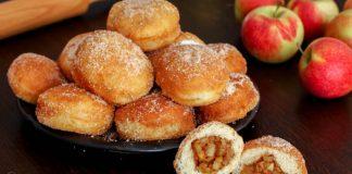 Šišky plnené jablkami | Recept na mäkké nadýchané jablkové šišky