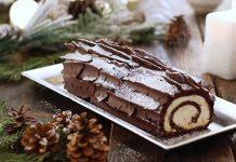 Bûche de Noël | Vianočná čokoládovo-kokosová roláda | Recept