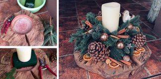 Návod krok za krokom ako si vyrobiť vianočný svietnik na prírodno 91df7ece9d2