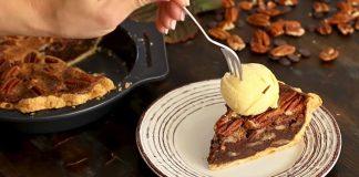 Čokoládový koláč s pekanovými orechmi na maslovom ceste | Recept
