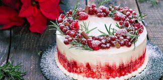 Zimná torta | Recept na zasneženú tortu s malinovo-ríbezľovou náplňou