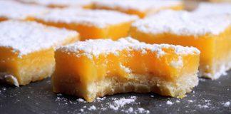 Dokonalé citrónové rezy | Chrumkavé maslové cesto s citrónovým krémom