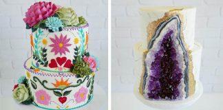 Torty a cupcaky zdobené rastlinami z maslového krému | Leslie Vigil