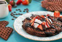 Čokoládové vafle s čokoládovým krémom | Recept na čokoládové waffle