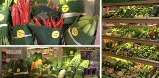 Supermarket začal používať banánové listy namiesto plastových obalov