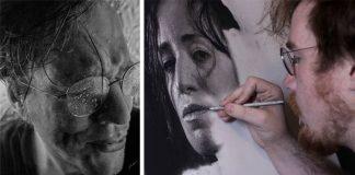 Fotorealistické kresby ceruzou | Čiernobiele portréty Dylan Eakin