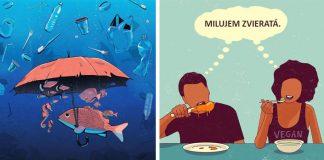 Ilustrácie zobrazujúce najväčšie problémy ľudstva v 21. storočí | Iconeo