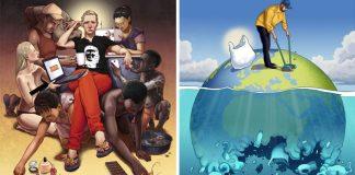 20 silných ilustrácií o problémoch súčasnej doby | Ilustrácie Daniel Garcia