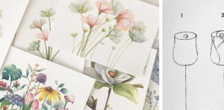 Ako nakresliť kvety | Návody umelkyne na dokonalé kvetiny v 3 krokoch