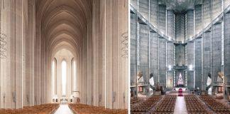 Impozantné interiéry moderných kostolov | Fotografie od Thibaud Poirier