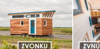 Minidom na kolesách skrýva na 13 m² spálne, kuchyňu, obývačku i kútik
