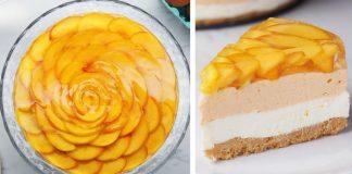 Nepečený broskyňový cheesecake | Recept na jemný krémový zákusok