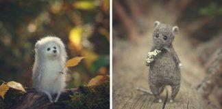 Plstené miniatúrne postavičky | Tvorba Anastasia Zharkova