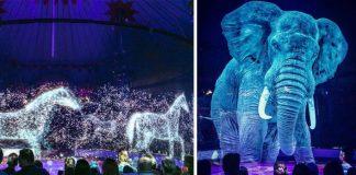 Circus Roncalli využíva namiesto živých zvierat ich hologramy