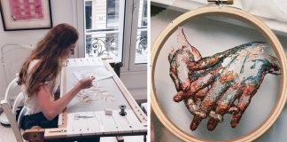 Handmade výšivky na tyle inšpirované módou a haute couture