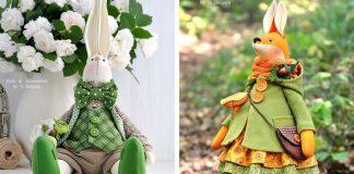 Šité bábiky zvieratiek | Roztomilé handmade šité zvieratká s oblečením