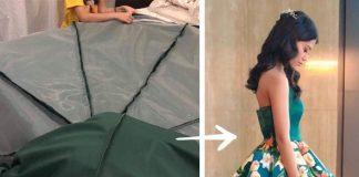 Ručne maľované šaty na maturitný ples | Handmade šité šaty na stužkovú