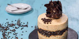 Čokoládovo-kávová torta | Recept na luxusne zdobenú tortu