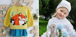 Detské pletené svetre | Pletené svetríky so zvieratkami pre deti
