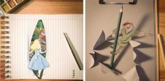 Optické ilúzie balansujú na hranici kresleného sveta a reality | Ilustrácie