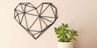 Geometrické srdce | DIY návod na dekoráciu na stenu v tvare srdca