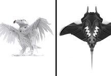 Sneakers sochy vtákov, hmyzu a lebiek prepracované do detailov   Filfury
