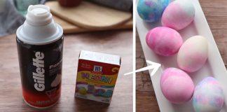 Mramorované veľkonočné vajíčka pomocou peny na holenie | DIY návod