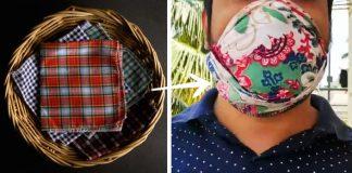 Ako vyrobiť ochranné rúško z látkovej vreckovky či šatky bez šitia | Návody