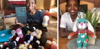 12-ročný chlapec vyrába háčkované výrobky na pomoc deťom v Etiópii