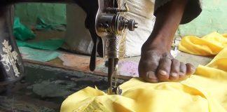 Šije prstami na nohách | Narodil sa bez rúk, no vytvára oblečnie na mieru