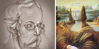 Obrazy s optickými ilúziami sa pohrávajú s našou mysľou a vnímaním