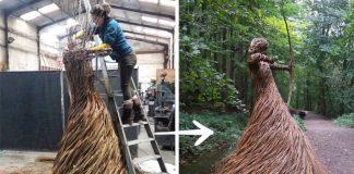 Sochy z prútia | Lesy, lúky i záhradky vypĺňa pletenými sochami z vŕby