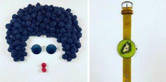 Nečakané koláže z ovocia a zeleniny tvorí vskutku premyslene a kreatívne