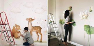 Maľby na stenu | Tvorí nástenné maľby do detských izieb a kvetinové steny