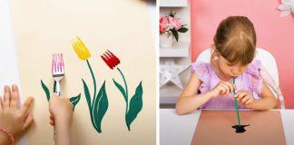 Kreatívne maľovanie s deťmi s netradičnými pomôckami na maľovanie