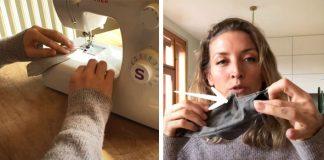 Ako si vyrobiť rúško s vreckom na filter so šijacím strojom i ručne bez stroja