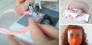 Rúško so štítom na oči | Návody, ako ušiť rúška s ochranným štítom